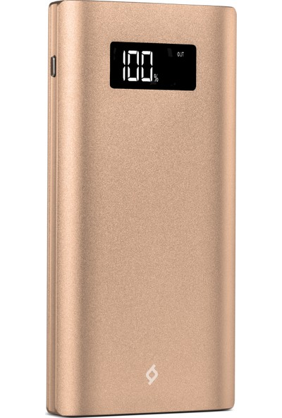 Ttec AlumiSlim LCD 10.000mAh Taşınabilir Şarj Aleti Powerbank Altın