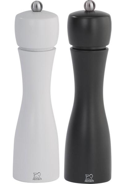 Peugeot Tahiti Tuz Ve Karabiber Değirmen Seti 20 Cm Siyah Beyaz