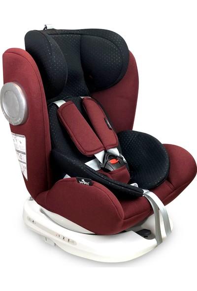 Lorelli Lusso 0-36 kg 360 Dönebilen İsofix Bebek Çocuk Oto Koltuğu Kırmızı