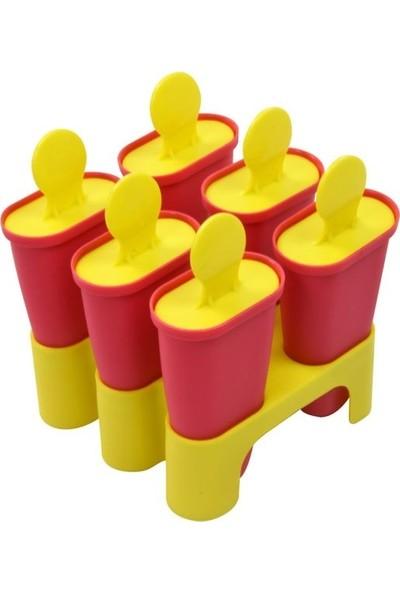 İkea Chogist 6'lı Dondurma Kalıbı - Pembe/Sarı