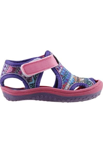 Ayakland Kids Desenli Aqua Kız Çocuk Sandalet Deniz Ayakkabı Pembe