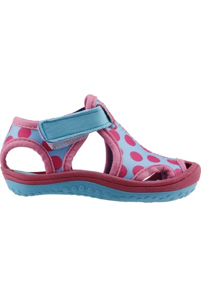 Ayakland Kids Puantiyeli Aqua Kız Çocuk Sandalet Deniz Ayakkabı Turkuaz