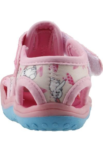 Ayakland Kids Resimli Aqua Kız Çocuk Sandalet Deniz Ayakkabı Pembe