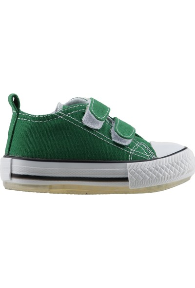 Pandora Kids 201.C.200 Cırtlı Keten Işıklı Kız Çocuk Ayakkabı Yeşil
