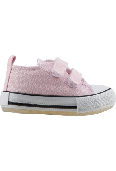 Pandora Kids 201.C.200 Cırtlı Keten Işıklı Kız Çocuk Ayakkabı Pembe
