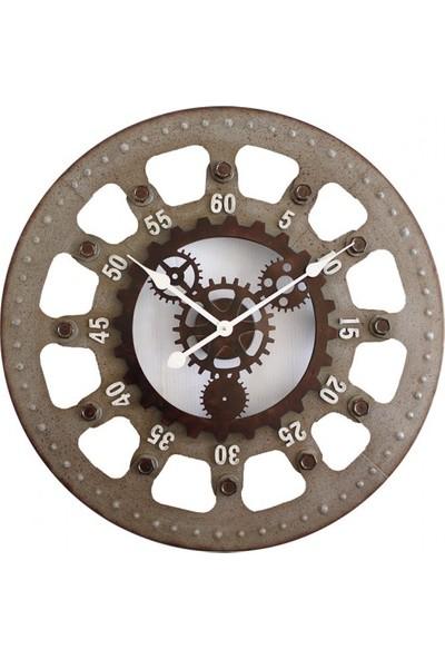 Bahattedarik İsviçre Metal Duvar Saati 68 cm