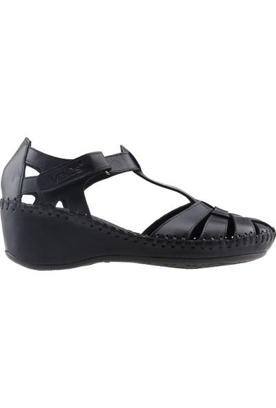 Venüs 18791382 Günlük %100 Deri 5 Cm Topuk Rahat Konfor Kadın Ayakkabı Siyah