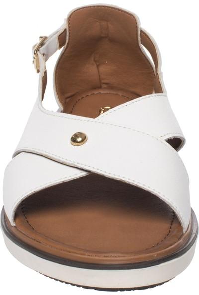 Pierre Cardin 2290 Casual Beyaz Kadın Sandalet