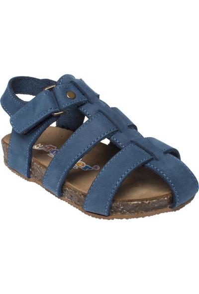 Toddler 4676 Tek Toka Mavi Çocuk Sandalet