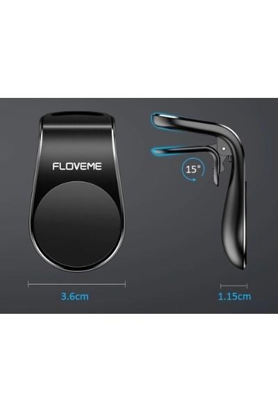 Floveme Vendas Mıknatıslı ve Mandallı Araç İçi Havalandırma Tip Telefon Tutucu - Siyah