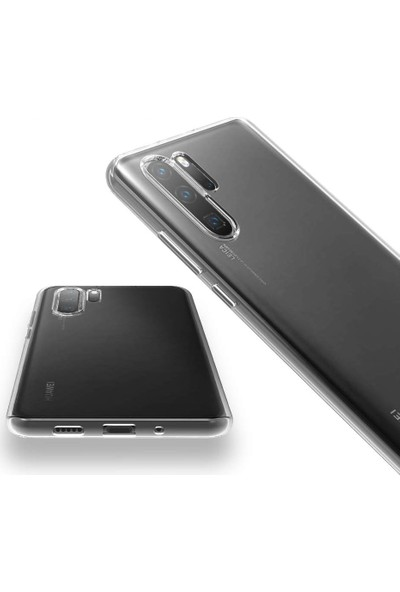 Cepaksesuarcim Huawei P30 Pro Premium Şeffaf Silikon Kılıf