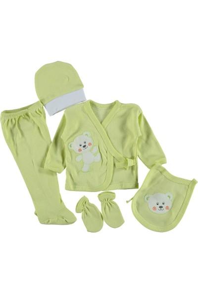 Burtaç Baby 5 Li Zıbın Seti Hastane Çıkışı Ayıcıklı Yeşil