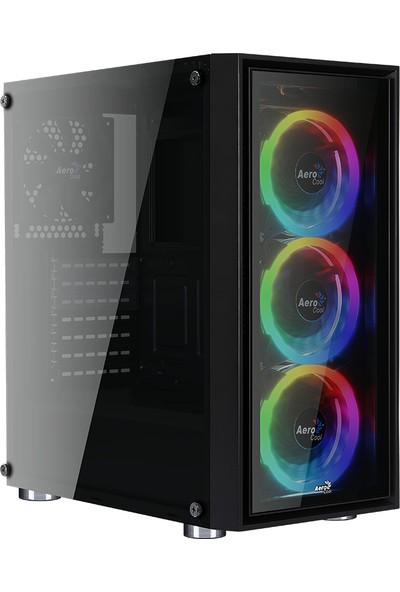 Aerocool Quartz REVO 4 x Adreslenebilir RGB Fanlı Güçlendirilmiş Camlı USB 3.0 ATX Oyuncu Kasası (AE-QRTZ-REVO)