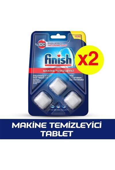 Finish Bulaşık Makinesi Temizleyici 3'lü Tablet x 2 Adet