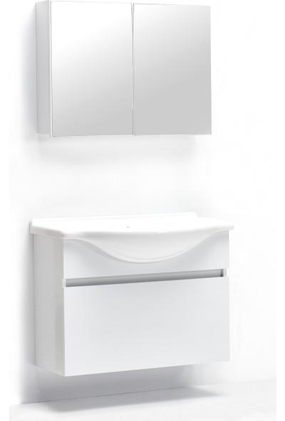 Hepsi Home Saydam Klasik Asma Mdf Banyo Dolabı 85 Cm Beyaz