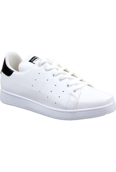Livens Lıvens Kadın Beyaz-Siyah Günlük Spor Ayakkabı