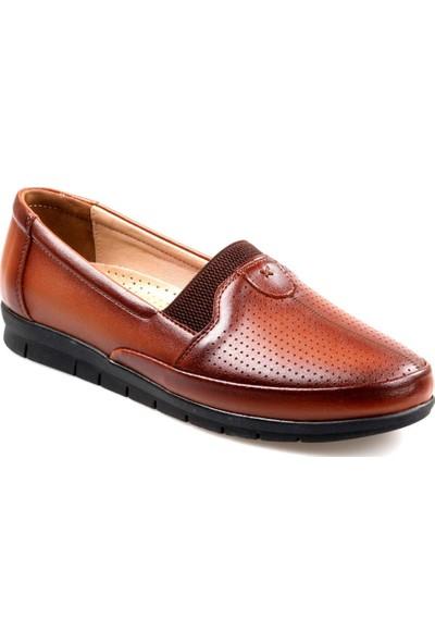 Tardelli Kadın Ortapedik Büyük Numara(41-42) Taba Günlük Ayakkabı