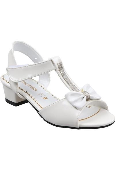 Elmonta Kız Çocuk(26-35) Topuklu Beyaz Sandalet