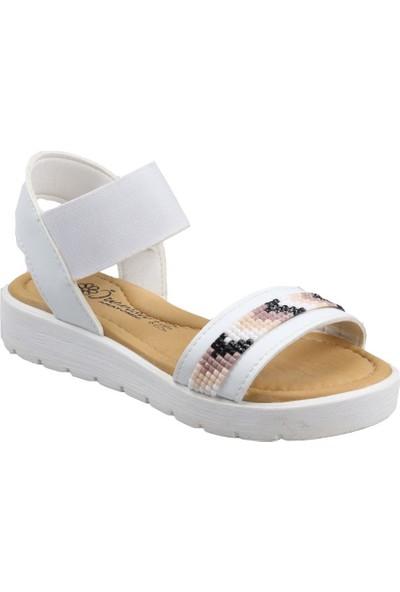 Sema Kız Çocuk(26-30) Ortapedik Beyaz Sandalet