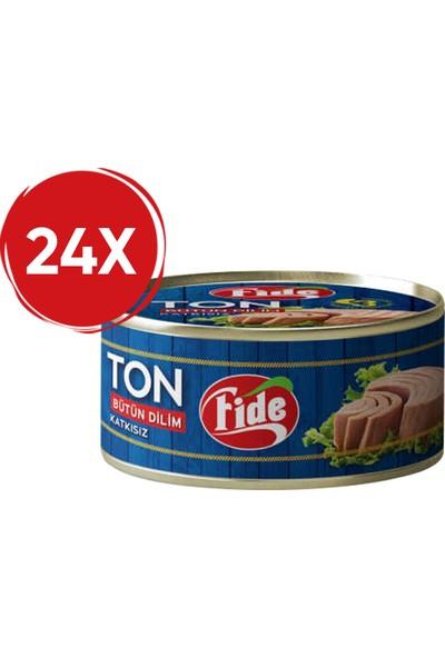 Fide Bütün Dilim Ton Balığı 80 Gr / 24 Adet