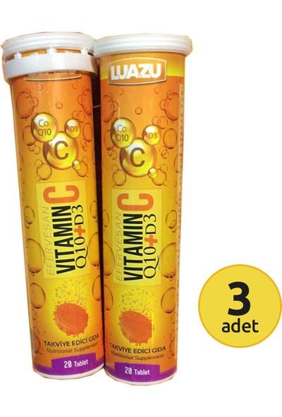 Luazu Vitamin C + Coenzyme Q10 + Vit D3 20 Tablet x 3 Kutu