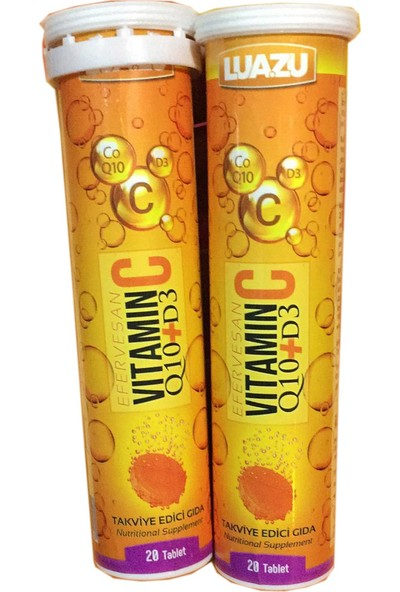 Luazu Vitamin C + Coenzyme Q10 + Vit D3 20 Tablet