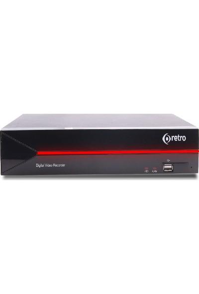 Retro Rt-8408P 8 Kanal 1080P 1Xsata 1Xses Xvr Kayıt Cihazı