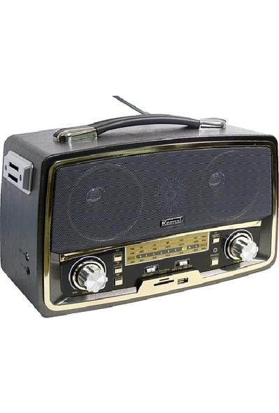 Kemai Smart Sepet Md-1701U Usb Sd Fm Nostaljik Görünümlü Radyo Müzik Kutusu