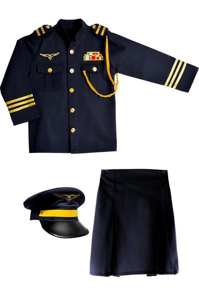 Oulabimir Kız Pilot Kostümü Çocuk Kıyafeti