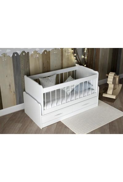 Sanal Mobilya Baby Beşik Parlak Beyaz