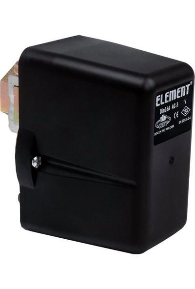 Element 1-6 Bar Basınç Şalteri Tahliyesiz Monofaze 1/4 Bağlantılı