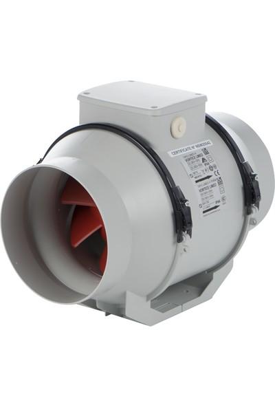 Vortice Lineo125V0 Çift Kademeli Kanal Tipi Fan 365 m³ 1570 RPM