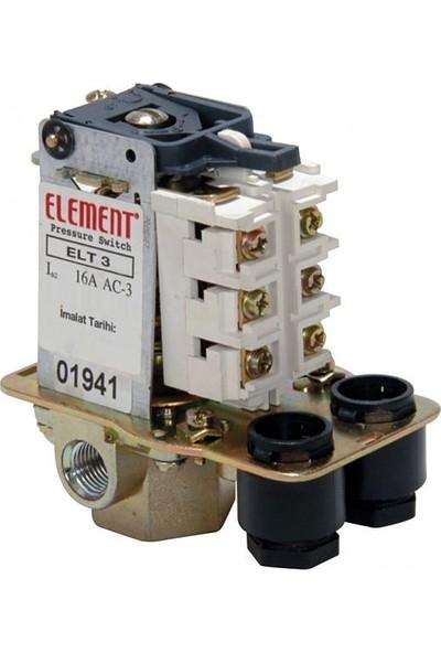 Element 3-11 Bar Basınç Şalteri Tahliyeli On/Off Trifaze 1/2 Bağlantılı
