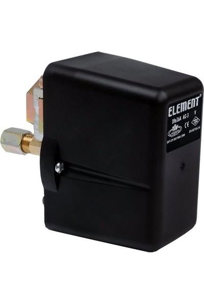 Element 1-6 Bar Basınç Şalteri Tahliyeli Monofaze 1/2 Bağlantı