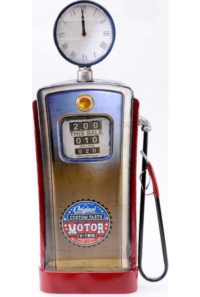 The Company Metal Benzin Pombası Saat