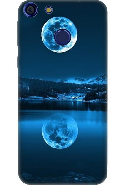 Cekuonline Vestel Venus E4 Desenli Esnek Silikon Telefon Kapak Kılıf - Dolunay Deniz