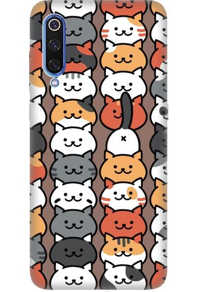 Cekuonline Xiaomi Mi 9 Desenli Esnek Silikon Telefon Kapak Kılıf - Nankör Kedi