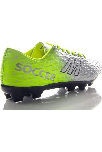 Mp 191-7371 Futboll Krampon Erkek Çocuk Ayakkabı Sarı Gümüş