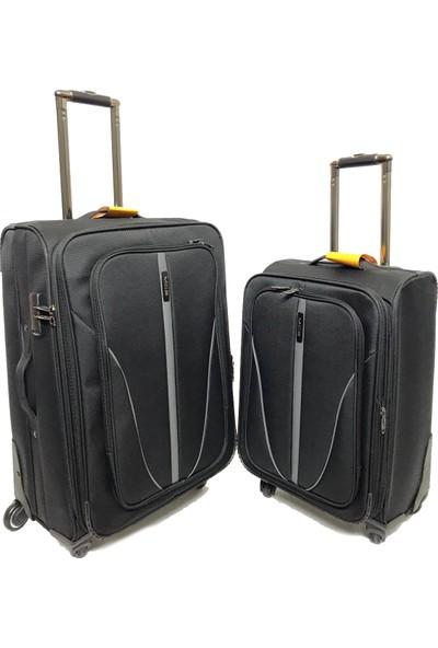 Mçs Lux Kumaş Valiz 2 Li Set Kabin Orta