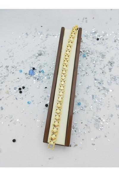 CD Jewelry Lazer Kesimli Altuni Bileklik