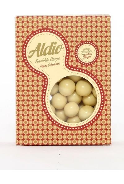 Aldio Beyaz Çikolatalı Fındıklı Draje 200 gr Kutu