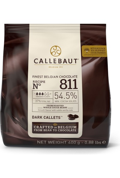 Callebaut Bitter Çikolata 811 - 400 g