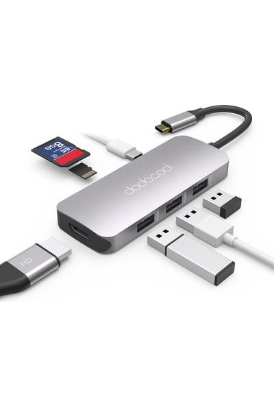 Dodocool DC68 7 in 1 Çok İşlevli USB-C Hub USB 3.0 SD / TF PD HDMI 4K