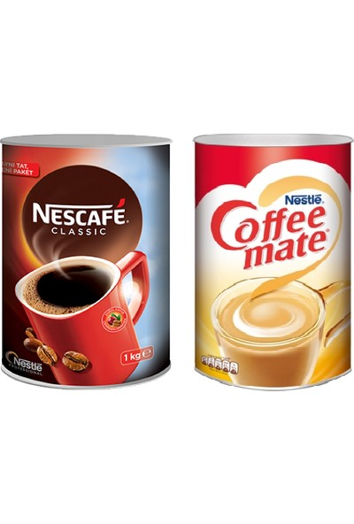 Nescafe Classic 1000 gr. + Coffee Mate Kahve Kreması 2000 gr.