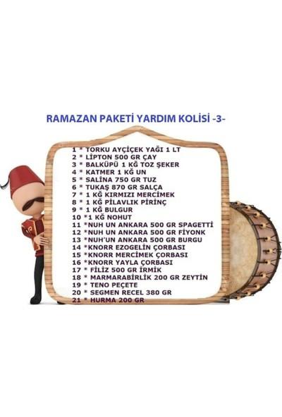 Ramazan Paketi Yardım Kolisi 21 Parça Paket-3