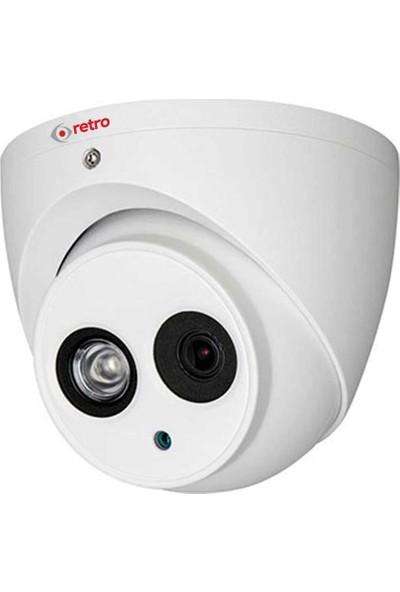 Retro Rd-1200Em-D 2Mp 3.6Mm Lens +Ses Ir Dome Hd-Cvı Kamera