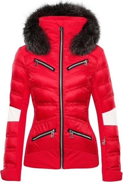 Toni Sailer Sibilla Fur Kadın Kayak Montu Kırmızı