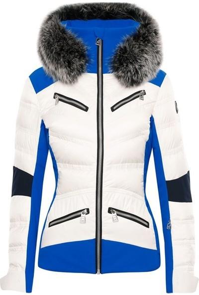 Toni Sailer Sibilla Fur Kadın Kayak Montu Mavi