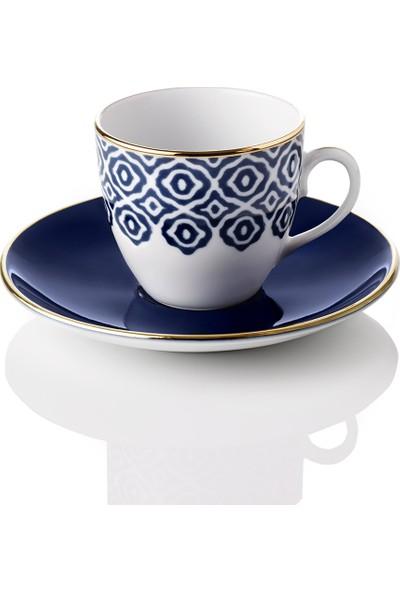 Selamlique 4'lü Bleu Blanc Türk Kahvesi Fincanı