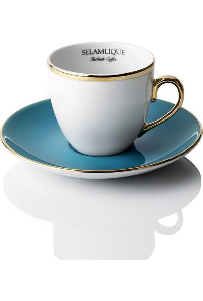 Selamlique 2'li Classic Turquoise Türk Kahvesi Fincanı